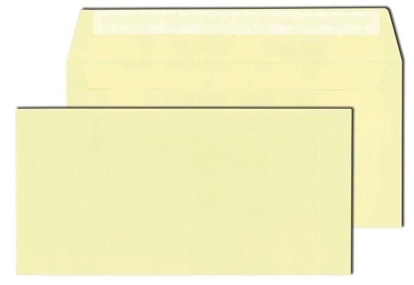 Briefhüllen hellgelb 120 g DIN C6/5 (114 x 229 mm) haftklebend