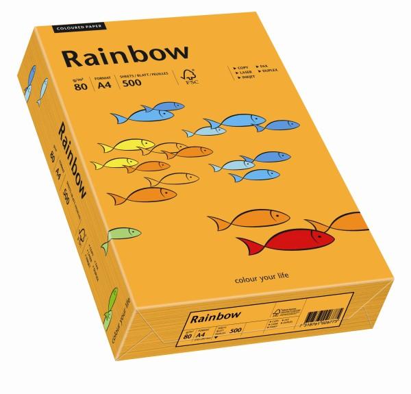Rainbow orange (S24) - 80 g/qm - DIN A3 BB (297 x 420 mm)