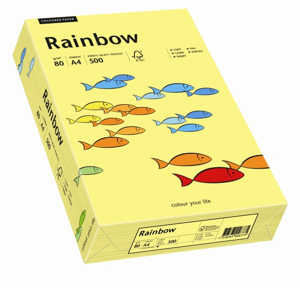 Rainbow gelb (S16) - 80 g/qm - DIN A3 BB (297 x 420 mm)