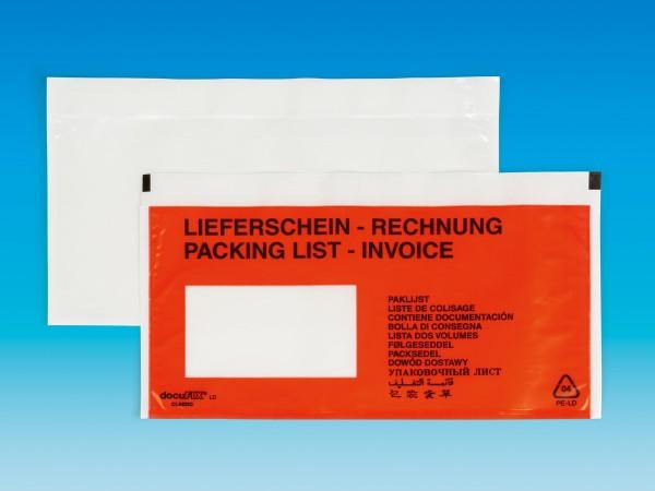 """docuFIX® """"Lieferschein / Rechnung"""" DIN lang (240x115+20 mm)"""