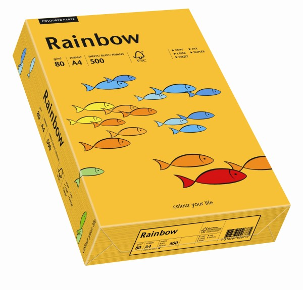 Rainbow mittelorange (S22) - 80 g/qm - DIN A3 BB (297 x 420 mm)
