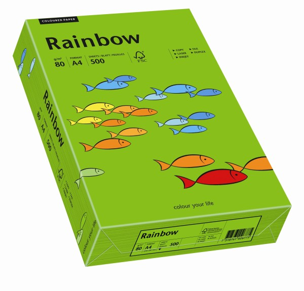 Rainbow intensivgrün (S78) - 80 g/qm - DIN A3 BB (297 x 420 mm)