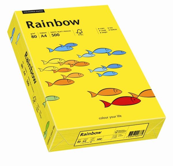 Rainbow intensivgelb (S18) - 80 g/qm - DIN A3 BB (297 x 420 mm)