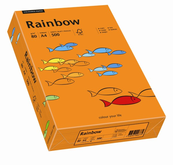 Rainbow intensivorange (S26) - 160 g/qm - DIN A4