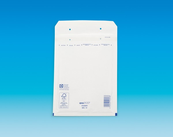 aroFOL Typ 4 weiß, Innen: 185 x 265 mm, Außenmaß: 200 x 275 mm