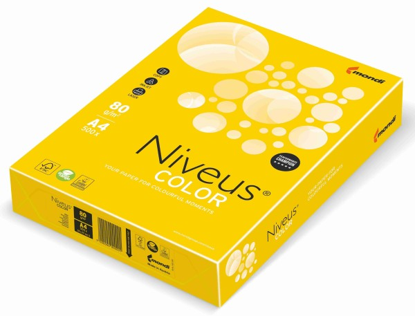 NIVEUS Color intensivgelb (IG50) - 160 g/qm - DIN A4