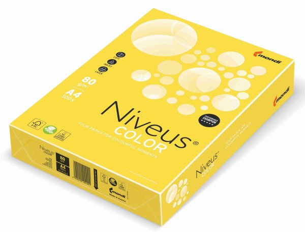 NIVEUS Color kanariengelb (CY39) - 80 g/qm - DIN A3 BB (297 x 420 mm)